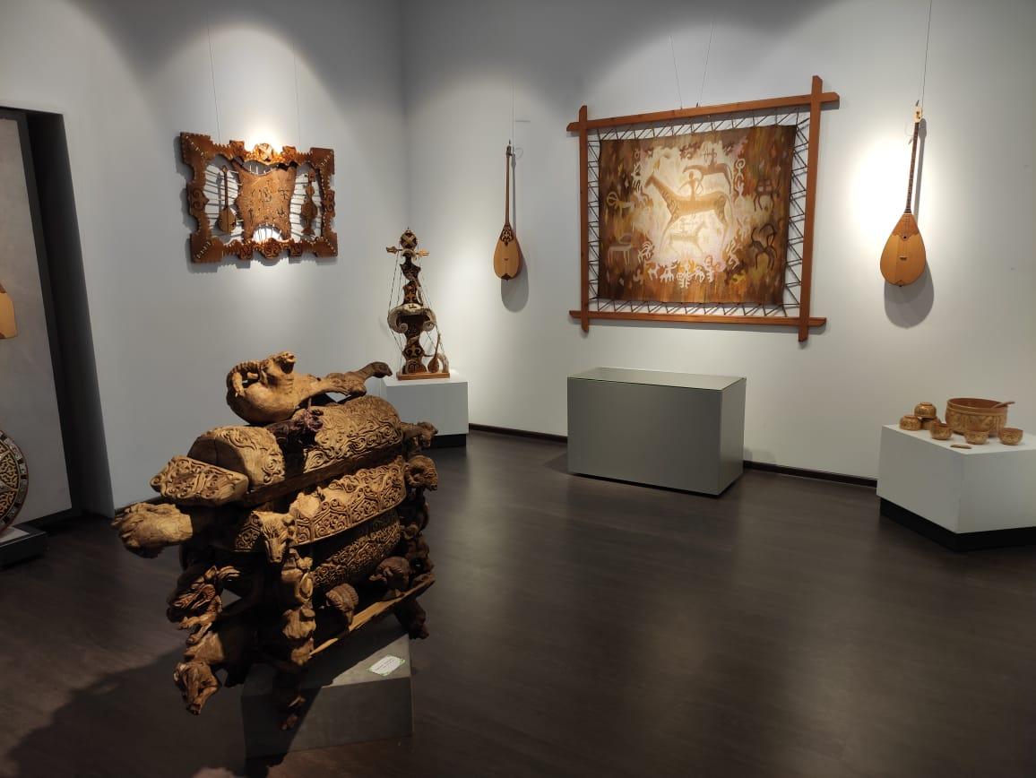 Exhibition «Sheberler auyly» in the Museum of Almaty»
